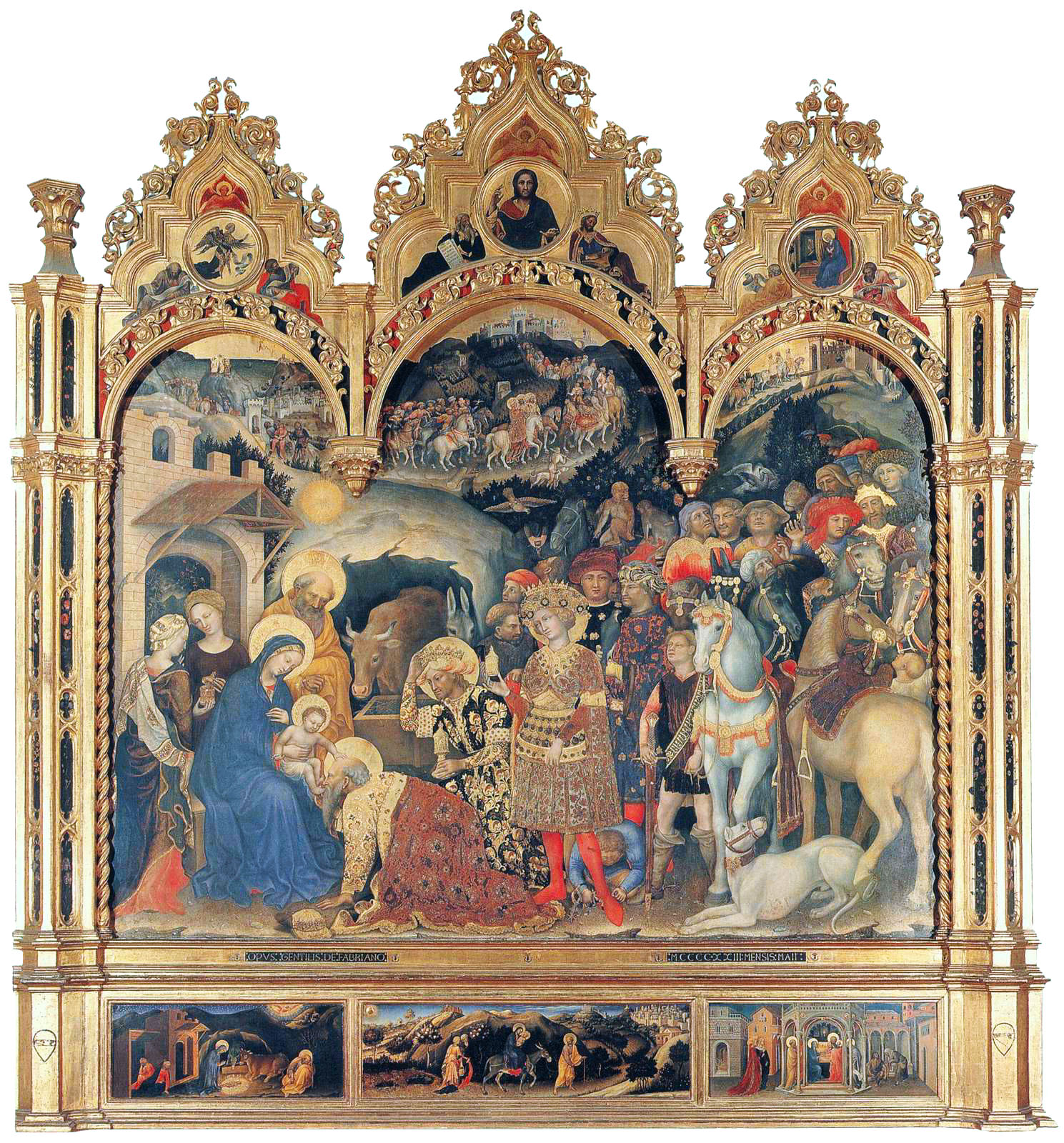 The Adoration of the Magi by Gentile da Fabriano (Uffizi)