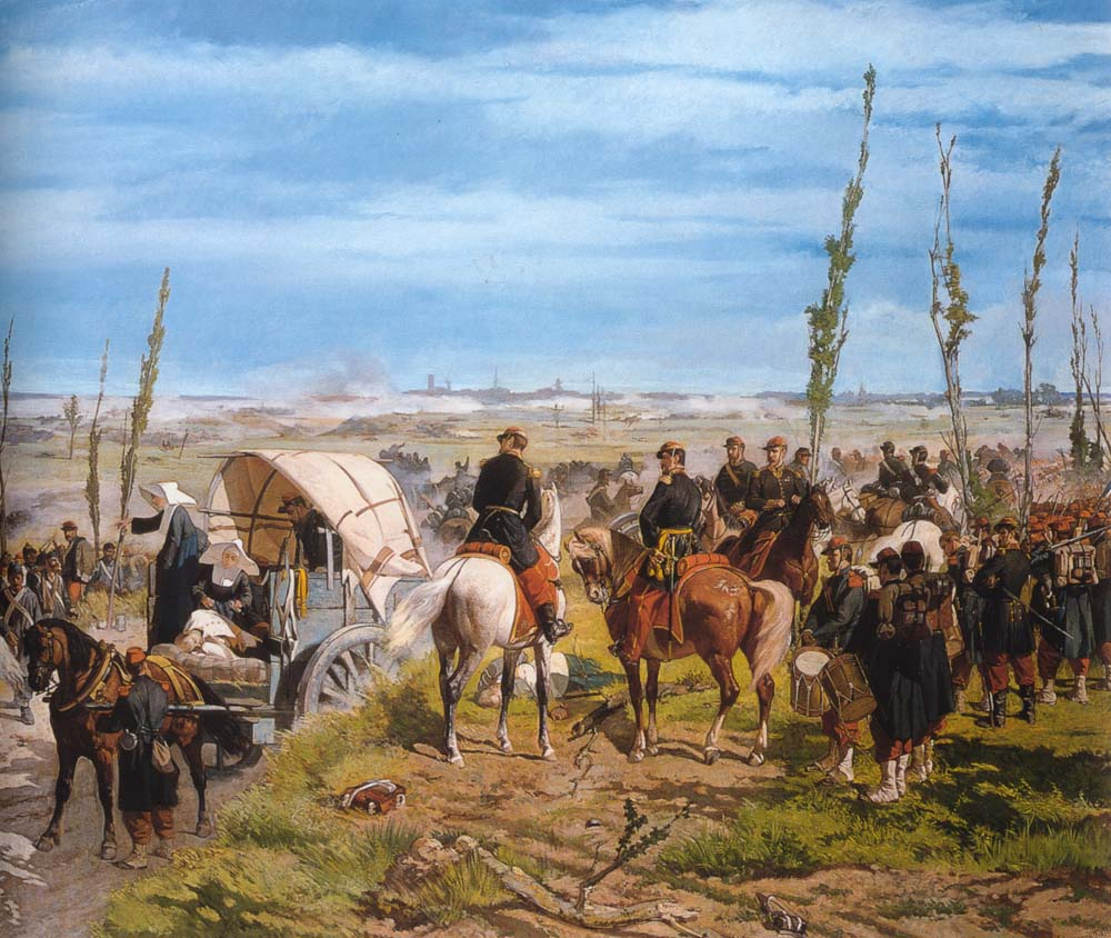 Italian Camp at the Battle of Magenta, Giovanni Fattori
