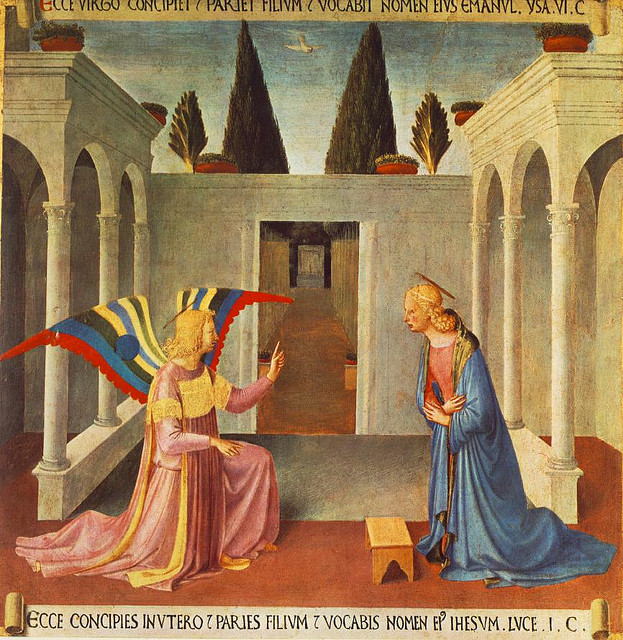 Annunciation by Fra Angelico in San Marco Museum
