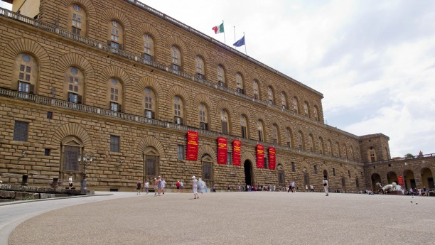 The façade of Pitti Palace (Florence)