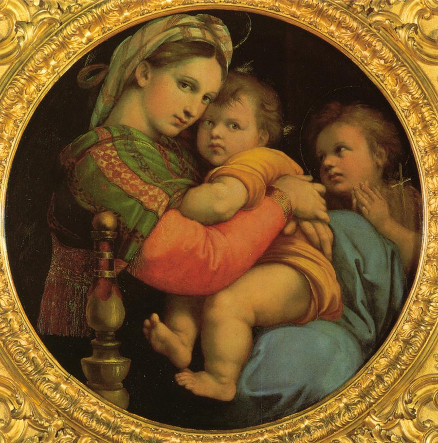The Madonna della Seggiola by Raffaello in the Palatine Gallery